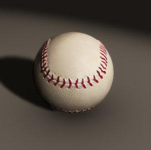 baseball home ball 3d model