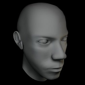 maya male human head malehead