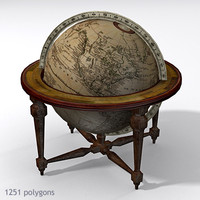 3ds max antique globe table