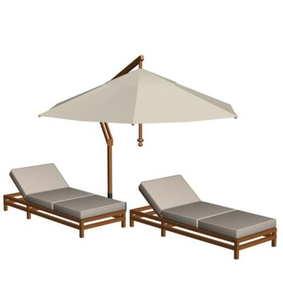 furniture pool 3d model