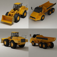 large wheel industrial dump truck 3d max