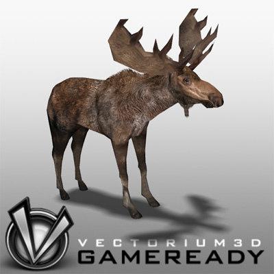 moose 3d 3ds