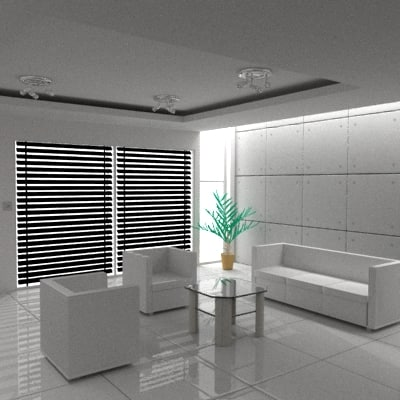 3ds max interior room office