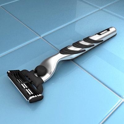 mach 3 razor 3d model