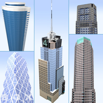 3d model new york skyscraper 2
