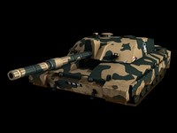 british army challenger 2 3d model