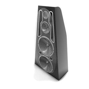 3d disco speaker model