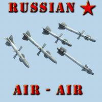 3d russian air-air missile model