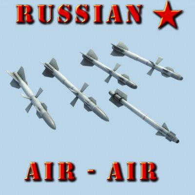 3d russian air-air missile model