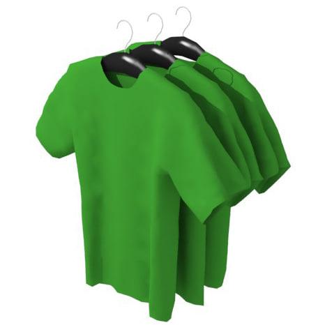 hanging shirts 3d model