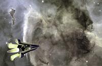 lightwave retro space rocket ship