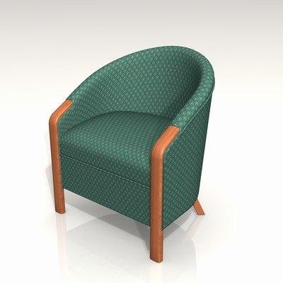 3d upholstery armchair ton