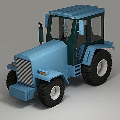3dsmax farm tractor
