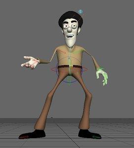 man character rigg 3d lwo