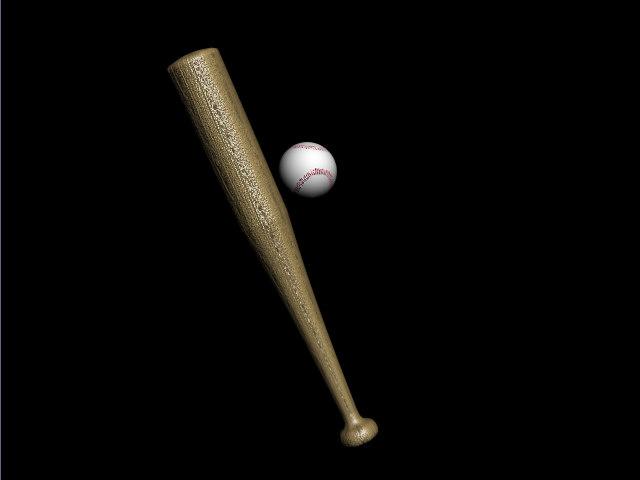 3d baseball bat ball model