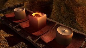 3d model candles