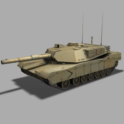 abrams tank 3d model