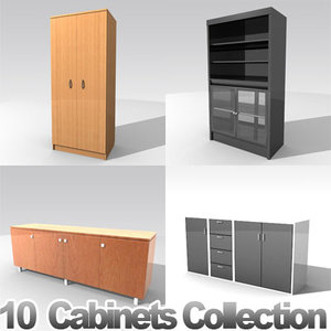 furniture cabinets 3d lwo