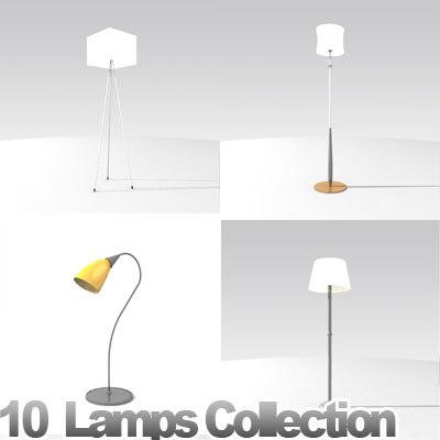 3d model furniture lamps