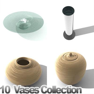 furniture vases 3d model