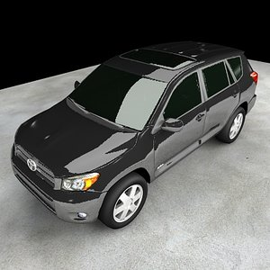 3d max vehicle toyota rav4 suv