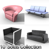 3d furniture sofas model