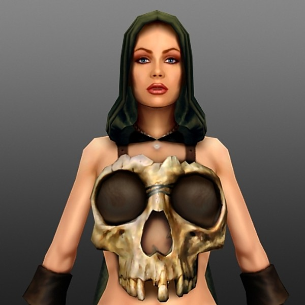 female realtime games 3d model