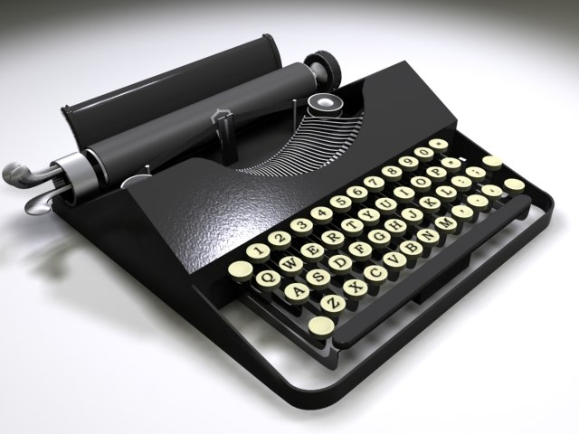3ds early typewriter