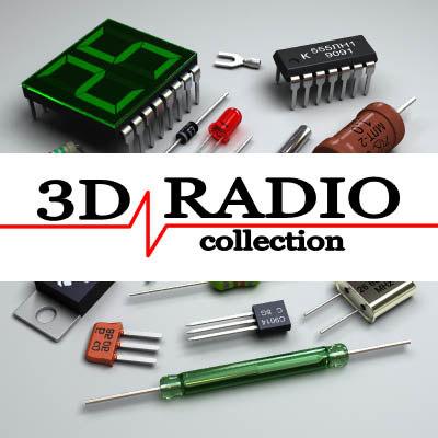 radio components 3d model
