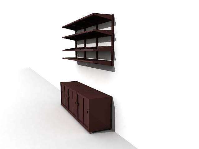 3ds max shelf cabinet