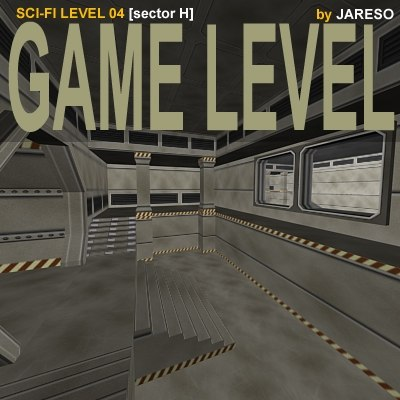 sci-fi level level04h sector 3d model