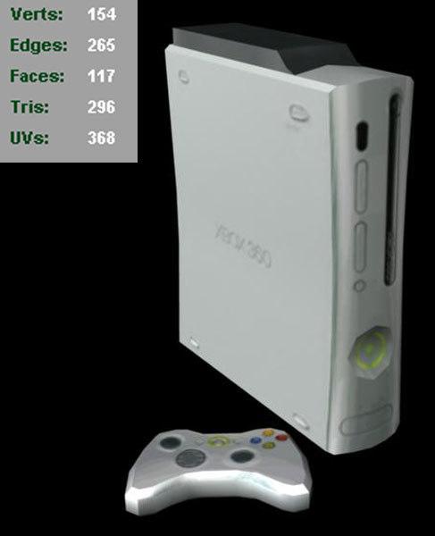 xbox 360 3d obj