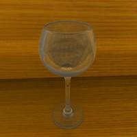 3d white wine model