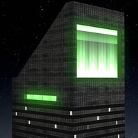 citicorp building night city 3d max
