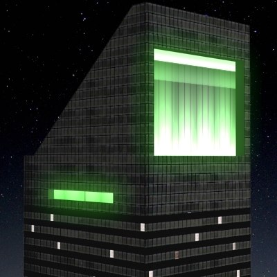 citicorp building night city 3d max