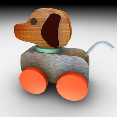 wood dog 3d c4d