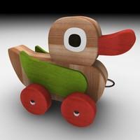 3d model wood duck