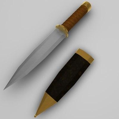 3d model dagger