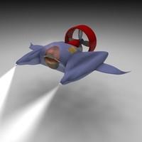 submarine 3d model
