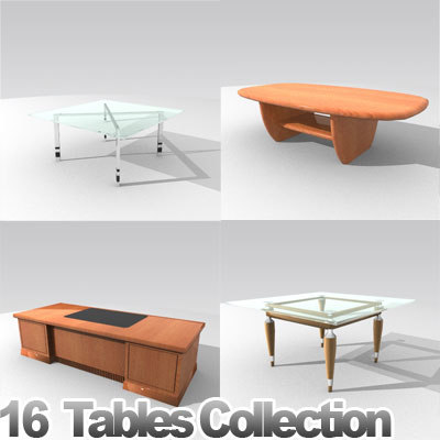 3d furniture tables model