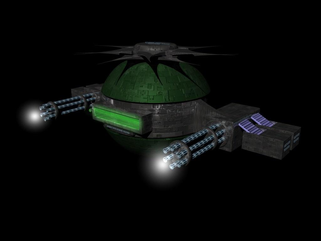 3d sci fi drone attack model