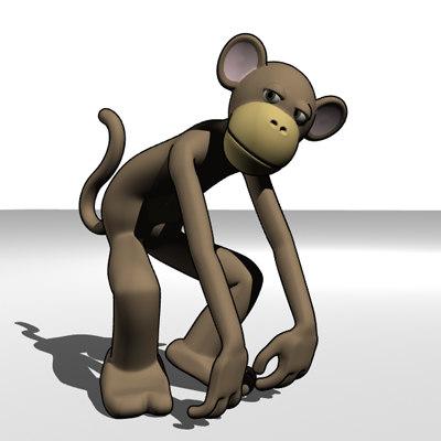 monkey character 3d lwo