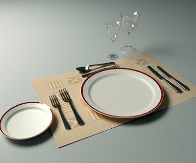 3ds place setting dinner plate