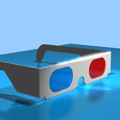 retro basic white glasses 3d model