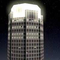 bear stearns building night 3d model