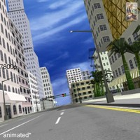 streets city buildings 3d model