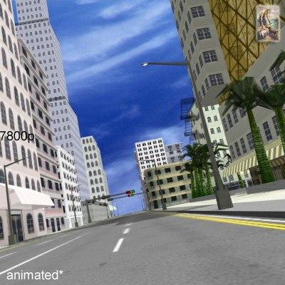 streets city buildings 3d model
