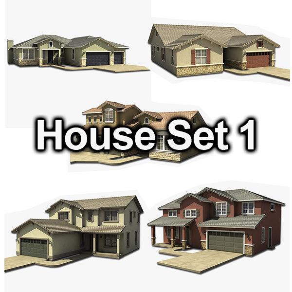 house set 3ds