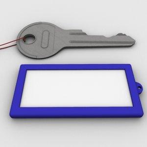 3d model key tag