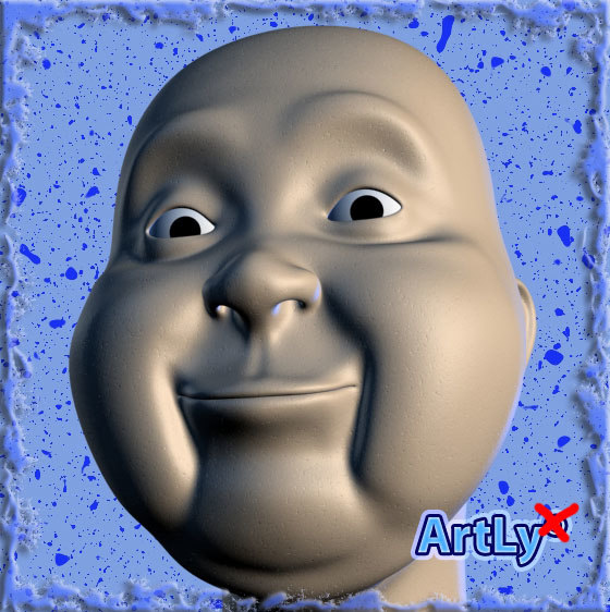 head face man 3d max